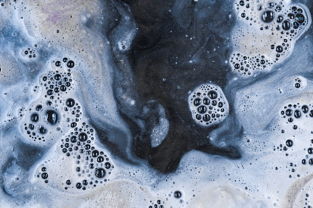 Water with white bubbles