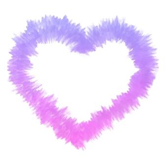 Акварельные краски красочные сердца