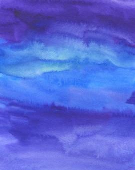 수채화 추상 배경, 손으로 그린 텍스처입니다. 수채화 파란색, 보라색, 분홍색 얼룩. 배경, 월페이퍼, 표지 및 포장을위한 디자인