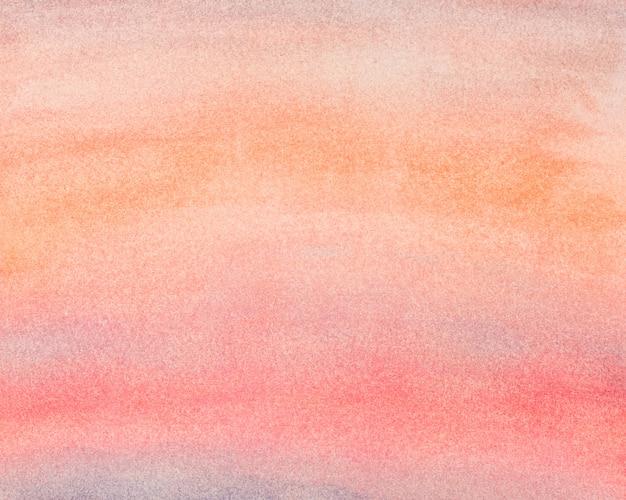오렌지 레드 그라데이션 색상의 수채화 추상적 인 배경. 손으로 그린 수채화 그림.
