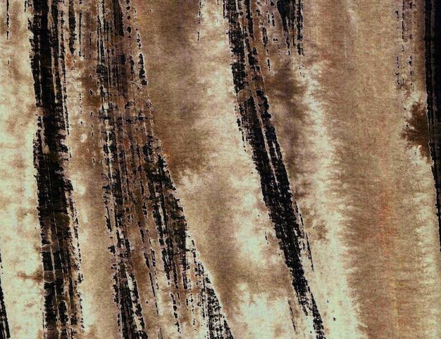 Акварель абстрактный гранж коричневый фон, монохромный, ручная роспись текстуры, акварель пятна.