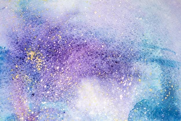 水彩抽象絵画。水の色の描画。カラフルなしみテクスチャ背景。