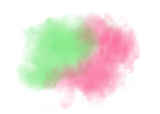 Watercolor art isolated on white background.