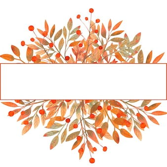 잎에서 수채화가 프레임