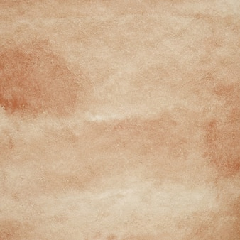 Watercolor background, art abstract brown watercolor painting textured design on white paper background