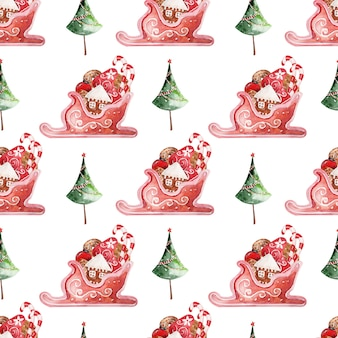 Watercolor background new year holiday decor
