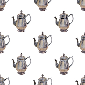 Watercolor background picture with the coffee maker