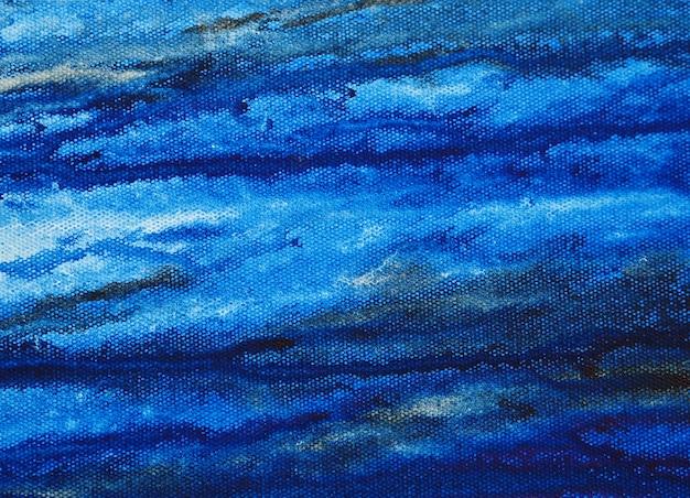テクスチャと紙の抽象的な背景の水彩画の青い絵
