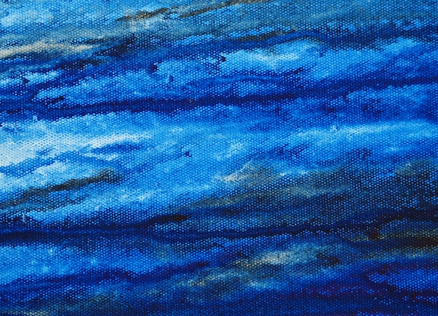 Watercolor blue  painting on paper abstract background with texture