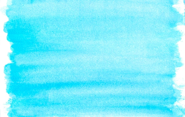 Watercolor blue smears on white background