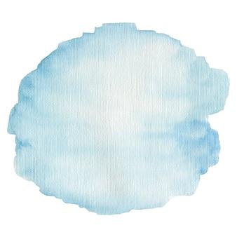 흰색 배경에 고립 수채화 블루 반점