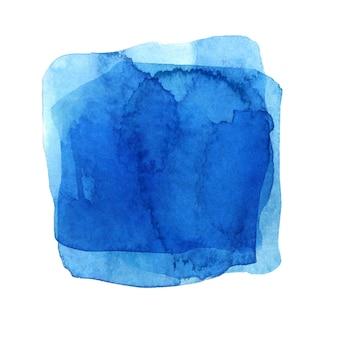 水彩の青い斑点