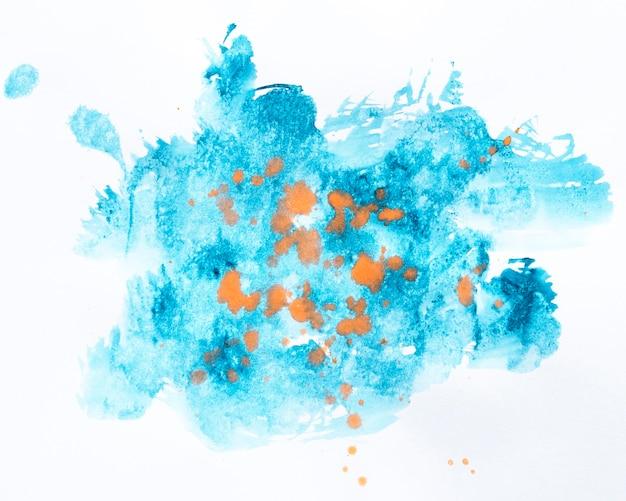 水彩の青い染色形状
