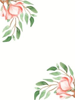 수채화 boho 꽃 꽃다발 일러스트 배경