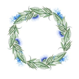 花と水彩の花束。パンジー。ヒヤシンス。図。手で書いた。