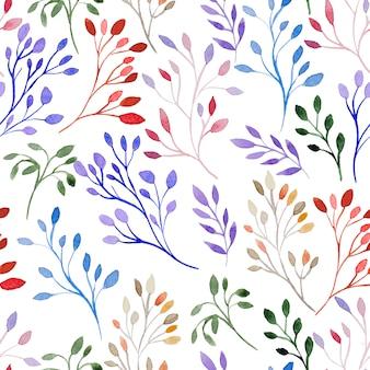 Watercolor branch pattern