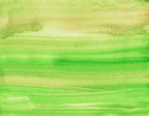 水彩の明るい緑と茶色のブラシストローク背景テクスチャ。