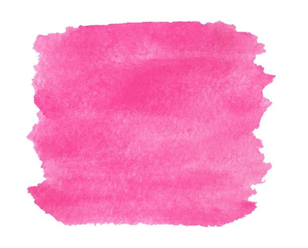 白で隔離の水彩画の明るい四角い赤い背景