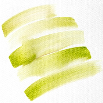 Watercolor brush stroke on canvas