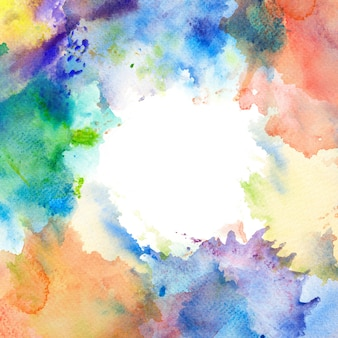 Watercolor brush stroke frame border.