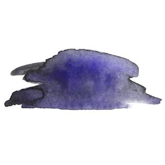 Watercolor brush stroke.