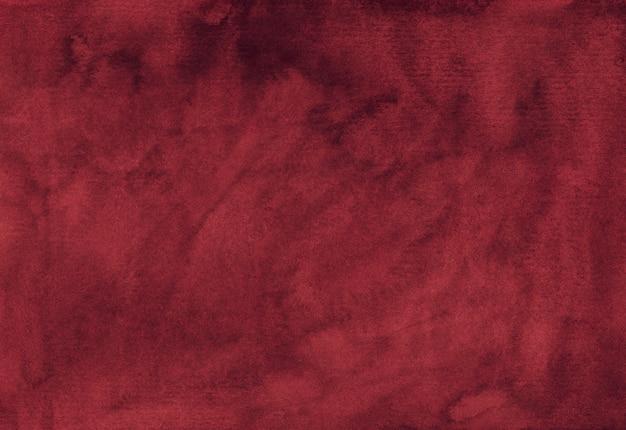 수채화 부르고뉴 질감 배경 손으로 그린 물 오래 된 먼지가 붉은 색 배경