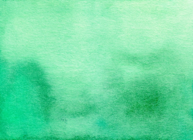 Watercolor calm green ombre background texture
