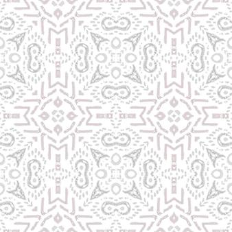 水彩セラミックタイルの幾何学的な背景。灰色のシームレスパターン。