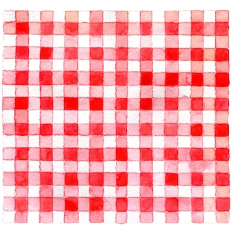 Watercolor chequered tablecloth