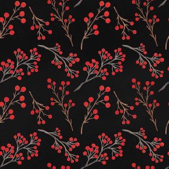 Watercolor christmas decoration seamless pattern
