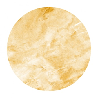Watercolor circular frame texture with stains