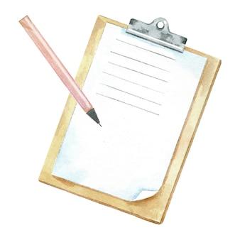 ペンで水彩クリップボード
