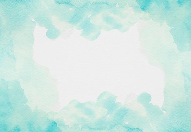 수채화 복사 공간 하늘색 페인트
