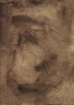 水彩の暗い茶色の背景テクスチャ、手描き。水彩抽象古いチョコレートブラウン背景。
