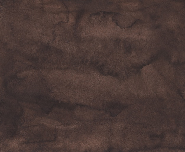 Watercolor dark brown background texture