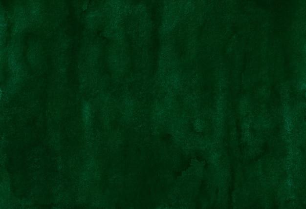 水彩の暗い森の緑の背景のテクスチャ