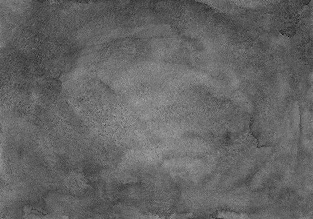 Watercolor dark gray background painting. monochrome frame gradient texture. black and white background