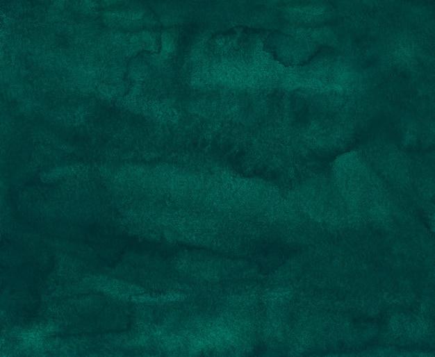 水彩の濃い緑色の背景のテクスチャ