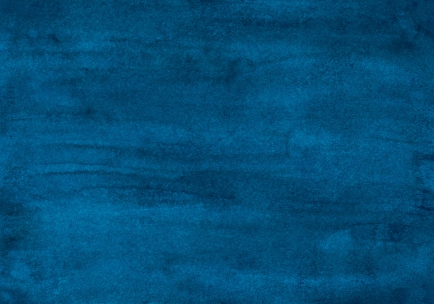 Watercolor dark ink blue background texture