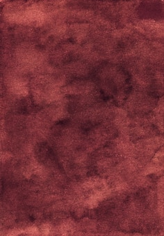 Watercolor dark red background texture. aquarelle abstract old deep crimson backdrop.