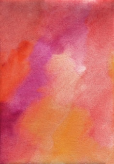 Watercolor dark red, purple, orange texture background, hand painted. stans on paper.