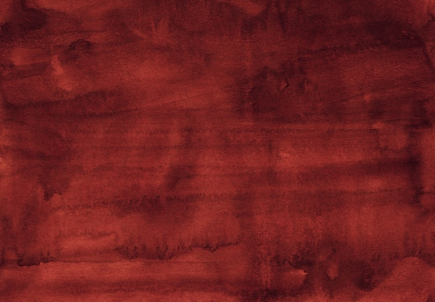 Watercolor dark red texture background hand painted. water color old dusty red color background