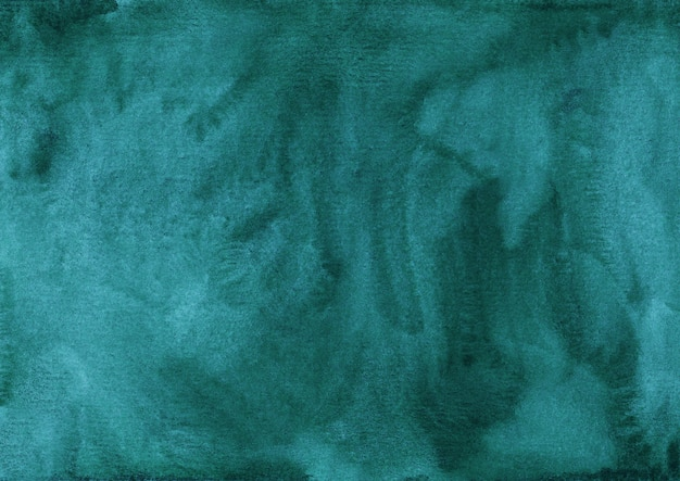 Watercolor dark sea green background texture.