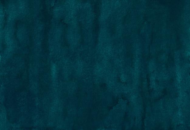 Акварель темно-бирюзовый синий старый фон текстур.