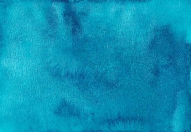 수채화 깊고 푸른 배경 텍스처입니다. 종이에 브러시 스트로크. 손으로 그린 예술적 수채 화법 배경.