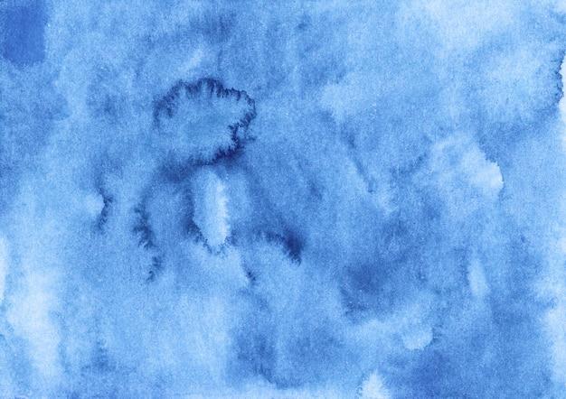 Акварель темно-синий фон текстуры ручная роспись. акварель небесно-голубой абстрактный фон.