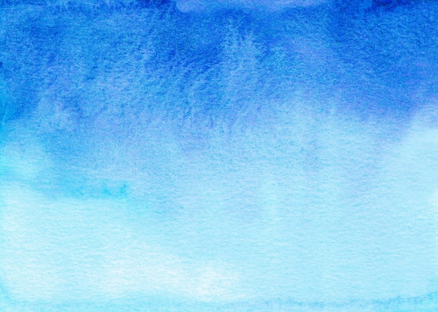 Watercolor deep blue and white gradient background