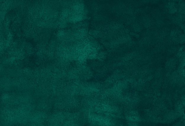 Watercolor deep emerald liquid background