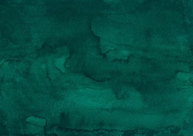 Watercolor deep green liquid background