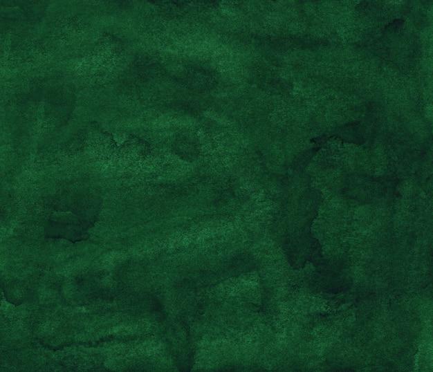 Watercolor deep green liquid painting